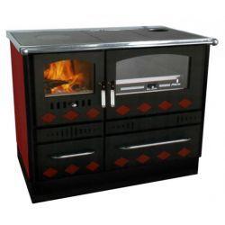 Piec kuchenny na drewno do centralnego ogrzewania KOPER Special 90 GRE czerwony
