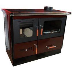 Piec na drewno kuchenny do centralnego ogrzewania KOPER Special 90 GE brązowy