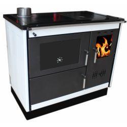Piec na drewno kuchenny do centralnego ogrzewania KOPER-PELA K biały