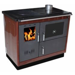 Piec na drewno kuchenny do centralnego ogrzewania KOPER-PELA K brązowy