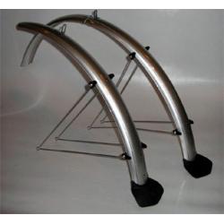 """Błotniki rowerowe Orion 20""""x53mm nylon/alu. z chlapaczem"""