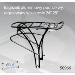 """Bagażnik aluminiowy IDEALE pod sakwy regulowany w zakresie 24"""" - 28"""""""