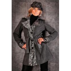 Płaszcz damski włoski elegancki płaszczyk L