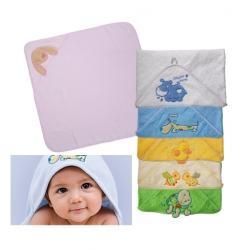 Mięciutki ręcznik 100x100 cm, okrycie kąpielowe z kapturkiem 172 - BabyOno