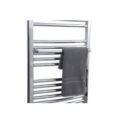 Grzejnik łazienkowy OMEGA R 50/90 chrom + wieszaki