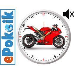 MOTOR drewniany zegar ścienny Dekoracje i ozdoby