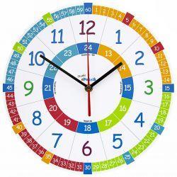 Zegar ścienny dla Dzieci Edukacyjny Nauczycielski Pokój dziecięcy