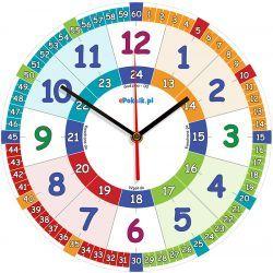 Edukacyjny zegar ścienny dla dzieci ZMNC-T Pokój dziecięcy