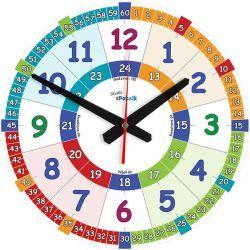 Edukacyjny zegar ścienny dla dzieci ZMNG Pokój dziecięcy