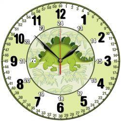 Edukacyjny zegar ścienny dla dzieci Dino Pokój dziecięcy