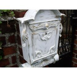 STARE ZŁOTO biała skrzynka na listy - pocztowa