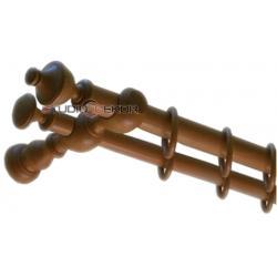 Karnisz Drewniany MORFEUSZ 35/28mm CALVADOS (CZEREŚNIA)