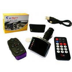 Transmiter FM + czytnik kart SD/MMC 2GB