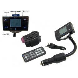 Transmiter FM BLUETOOTH + czytnik SD/MMC +USB + Pilot