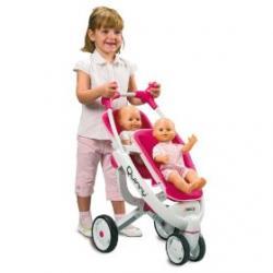 Smoby MAXI COSI Quinny Wózek Spacerówka dla bliźniąt Tandem Dla lalek