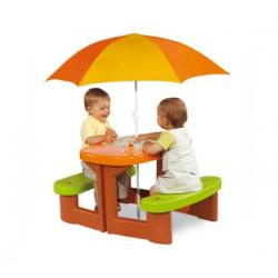 Smoby Stolik piknikowy z parasolem Kubuś Puchatek + GRA