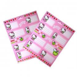 Hello Kitty naklejki na zeszyty