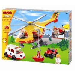 Smoby - Ecoiffier Abrick Klocki Zestaw ratunkowy helikopter SOS