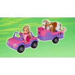 Simba Lalka Evi + jeep z przyczepa