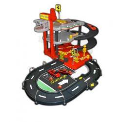 Ferrari parking garaż - dwa samochody ferrari w skali 1/43