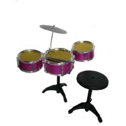 Perkusja - zestaw duży - 3 bębny, talerz, taboret
