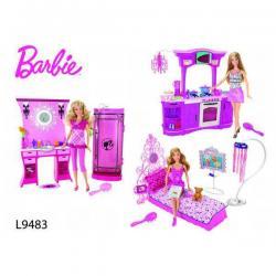 BARBIE - Mebelki Duży Zestaw L9483