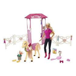 BARBIE - Stajnia (lalka+koń) N4892