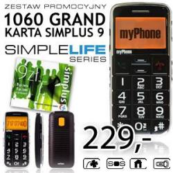 Telefon myPhone 1060 Grand + Simplus 9 czarny