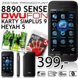 Telefon myPhone 8890 Sense Dwufon + 2 startery (Heya i Simplus)