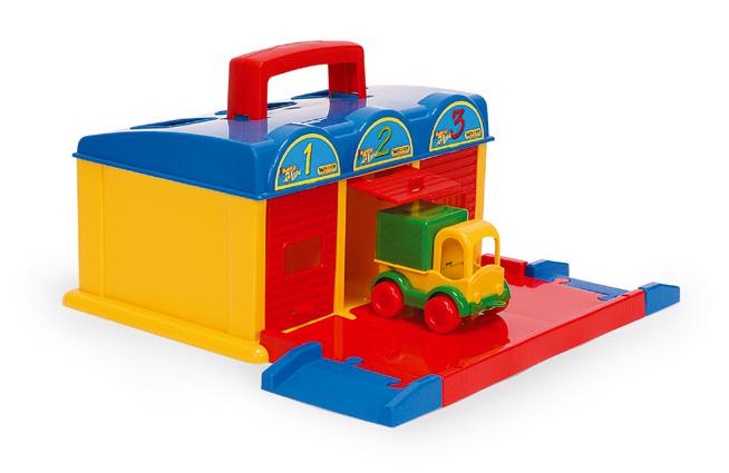 Wader 50950 Zabawki Garaż Kid Car 3 Box Na Bazarekpl