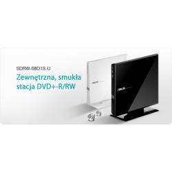 ASUS Napęd DVD-/+RW 8x (biały panel), zewnętrzny, USB