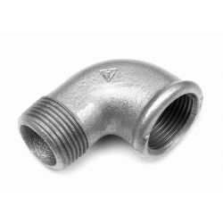 """Ocynkowane kolano WZ, ⌀ 1 1/2"""", 90° Baterie łazienkowe"""