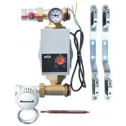 Grupa pompowa z zaworem termostatycznym Honeywell i pompą Wilo 6 m, do ogrzewania podłogowego Wodomierze i liczniki