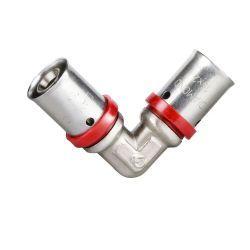 Kolano zaprasowywane Pex, ⌀ 25 mm × 25 mm, chromowane Rury i kształtki