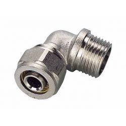 """Kolano skręcane Pex, ⌀ 20 mm × 3/4"""" GZ, chromowane Rury i kształtki"""