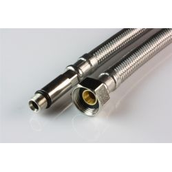 """Wąż przyłączeniowy do baterii, przyłącze M10 długie × ⌀ 3/8"""" GW, długość: 800 mm Rury i kształtki"""