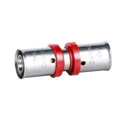 Złączka zaciskana Pex, ⌀ 25 mm × 25 mm, chromowana Rury i kształtki
