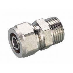 """Złączka skręcana Pex, ⌀ 16 mm × 3/4"""" GZ, chromowana"""