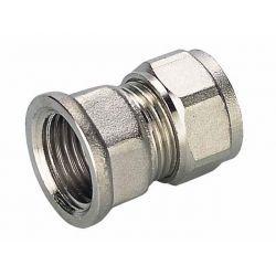 """Złączka skręcana Pex, ⌀ 16 mm × 3/4"""" GW, chromowana"""