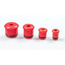 Korek do prób szczelności do rur Pex, ⌀ 16 mm, grubość: 2 mm, czerwony Pozostałe