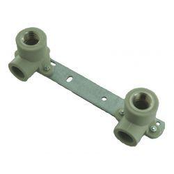 """Zespół montażowy polipropylenowy ⌀ 20 mm × 1/2"""", rozstaw: 150 mm Rury i kształtki"""