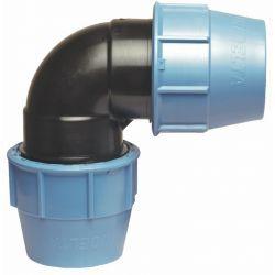 Kolano polietylenowe, ⌀ 25 mm × 25 mm, 90° Panele i zestawy prysznicowe