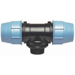"""Trójnik polietylenowy, ⌀ 50 mm × 1 1/2"""" GZ × 50 mm"""