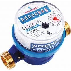 """Wodomierz antymagnetyczny do wody zimnej, z gwintem ⌀ 1/2"""", z przepustowością 1,6 m³/h"""