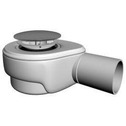 Syfon do brodzika, ⌀ 72,5 mm × 50 mm, przepustowość: 45 l/min., klik-klak ABS, chromowany Syfony