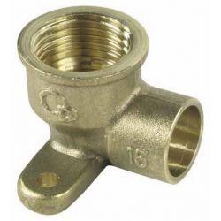 """Kolano miedziane naścienne, ⌀ 15 mm × 1/2"""" Baterie łazienkowe"""