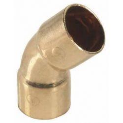 Łuk miedziany do lutowania, ⌀ 54 mm, 45° Rury i kształtki