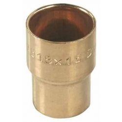 Redukcja mufowa miedziana do lutowania, ⌀ 15 mm × 10 mm Akcesoria do kotłów i pieców