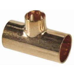 Trójnik miedziany do lutowania, ⌀ 22 mm × 18 mm × 22 mm Rury i kształtki