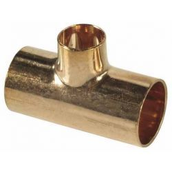 Trójnik miedziany do lutowania, ⌀ 54 mm × 28 mm × 54 mm